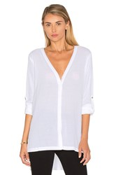 Heather Gauze Button Down White