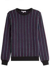 Carven Knit Cotton Pullover Blue
