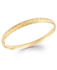Macy's Cross Stitch Bangle Bracelet In 14K Gold Yellow Gold