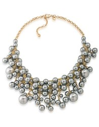 Carolee 12K Goldplated And Faux Pearl Statement Frontal Drop Necklace