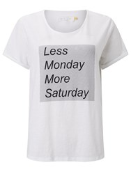 John Lewis Collection Weekend By Less Monday T Shirt White