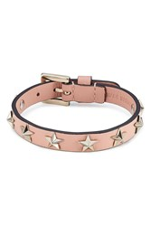 Red Valentino Star Studded Leather Bracelet Rose