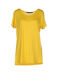 Annarita N. Topwear T Shirts Women Yellow