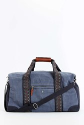 Mosson Bricke Linen Duffel Bag Black