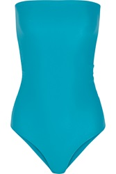 Mikoh Santorini String Swimsuit Blue