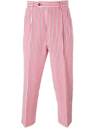 Lc23 Candy Stripe Cropped Trousers Red