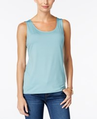 Charter Club Layering Shell Only At Macy's Dusted Aqua
