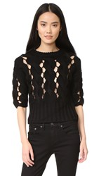 Dkny Cropped Sweater Black