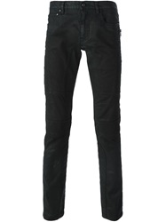 Belstaff Waxed Effect Slim Fit Jeans Black