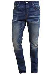 Earnest Sewn Bryant Slouchy Slim Fit Jeans Rockfeller Blue Denim