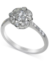 Effy Collection Effy Diamond Floral Cluster Ring 1 3 Ct. T.W. In 14K White Gold No Color