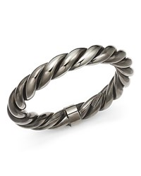 Roberto Coin Ruthenium Finished Sterling Silver Twist Bangle Bracelet