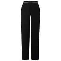 Chesca Contrast Piping Trousers Black