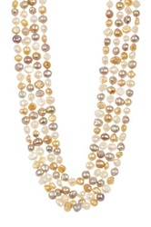 Gardenia Ltd. Multicolor 8 10Mm Freshwater Pearl 4 Strand Necklace