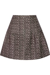 Nina Ricci Metallic Matelasse Mini Skirt Green