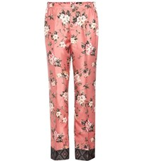 For Restless Sleepers Printed Silk Trousers Pink