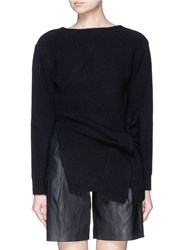 3.1 Phillip Lim Draped Wool Yak Cashmere Sweater Black