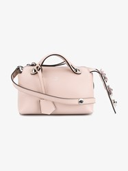 Fendi Mini Leather Floral By The Way Bag Pink Metallic Silver Pale Pink