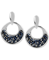 Kenneth Cole New York Silver Tone Faceted Bead Round Drop Earrings