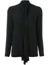 Versace Tied Ribbon Blouse Black