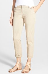 Petite Women's Caslon Chino Crop Pants Tan Oxford
