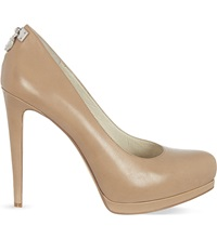Michael Michael Kors Hamilton Leather Stiletto Pumps Taupe