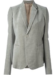 Rick Owens Single Button Blazer Nude And Neutrals