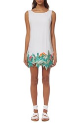 Women's Mara Hoffman 'Leaf' Embroidered Cover Up Shift Dress