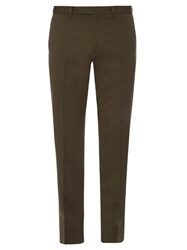 Valentino Slim Fit Wool Twill Chino Trousers Green
