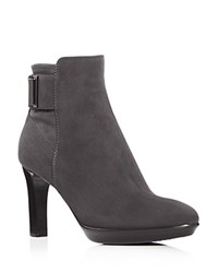 Aquatalia By Marvin K Rochelle High Heel Booties Anthracite