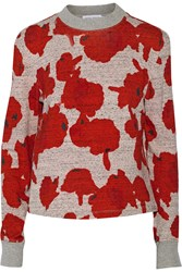 Tanya Taylor Hawkins Cotton And Wool Blend Jersey Sweatshirt Red