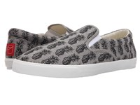 Bucketfeet Pineappleade Grey Black Men's Slip On Shoes Gray