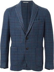 Boglioli Tweed Blazer Blue