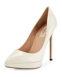 Valentino Leather Pointed Toe Platform Pump P45