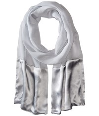 Lauren Ralph Lauren Cecilia Light Grey Scarves Gray