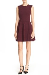 Ted Baker Women's London 'Frinca' Mix Knit Skater Dress Oxblood