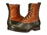 Frye Veronica Duck Boot Forest Multi Smooth Pull Up Oiled Vintage Women's Lace Up Boots Brown