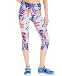 Roxy Relay Active Capri Leggings Blue Iris