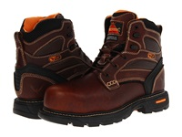 Thorogood 6 Plain Safety Toe Brown Tumbled Men's Work Boots