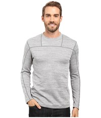 Terramar Ecolator Long Sleeve Crew Light Heather Grey Men's Long Sleeve Pullover Silver