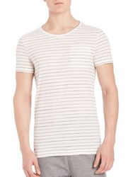 Strellson Striped Slim Tee White