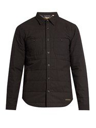 Burberry Quilted Flannel Overshirt Navy