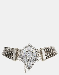 New Look Grunge Glamour Choker Necklace Silver