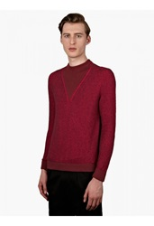 Paul Smith Mens Pink Crew Neck Knit Jumper