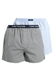 Tom Tailor 2 Pack Boxer Shorts Black