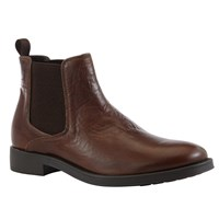 Geox Blade Leather Chelsea Boots Brown Cotto