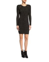 Derek Lam Metallic Jacquard Sheath Dress Black Gold Black Gold