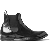 Officine Creative Anatomia Glossed Leather Chelsea Boots Black