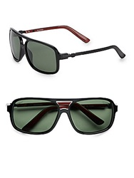 Sperry Georgetown Oversized Square Sunglasses Black