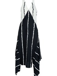 Derek Lam 10 Crosby Striped Sleeveless Dress Black